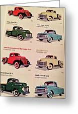 Ford Truck Stamps Greeting Card