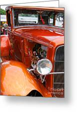 Ford V8 Right Side View Greeting Card