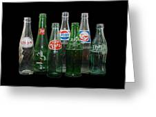 Foreign Cola Bottles Greeting Card