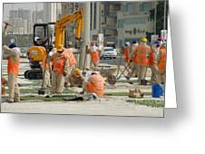 Foreign Workers - Manama Bahrain Greeting Card