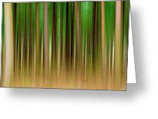 Forest Abstract04 Greeting Card by Svetlana Sewell
