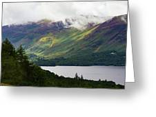 Forest And Lake Derwent Water Drama Greeting Card