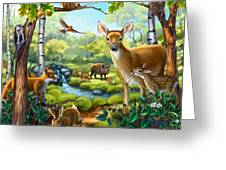 Forest Animals Greeting Card