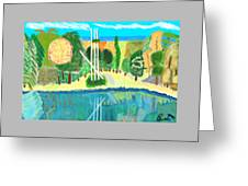 Forest At The Shore Greeting Card