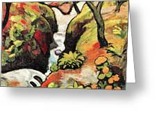 Forest Brook By August Macke Greeting Card