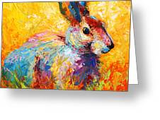 Forest Bunny Greeting Card by Marion Rose
