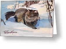Forest Cat Greeting Card