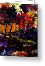 Forest Flames Greeting Card