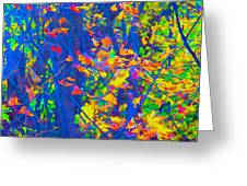 Forest Foliage Art Greeting Card