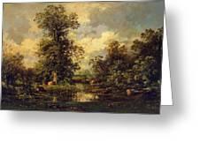 Forest Landscape 1840 Greeting Card