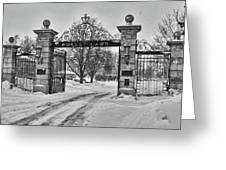 Forest Lawn Gate 4391 Greeting Card