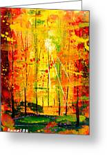 Forest Of Flame Greeting Card