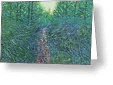 Forest Of Green And Blue Greeting Card