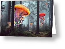 Forest Of Jellyfish Worlds Greeting Card