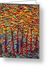 Forest On Fire Greeting Card