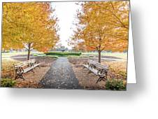 Forest Park Benches Greeting Card
