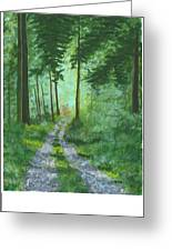 Forest Path 2 Greeting Card
