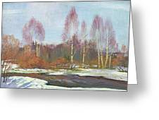 Forest River In Winter Greeting Card