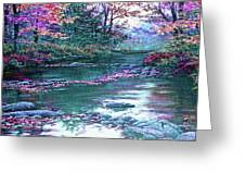 Forest River Scene. L B Greeting Card
