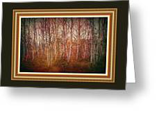 Forest Scene. L A With Decorative Ornate Printed Frame. Greeting Card