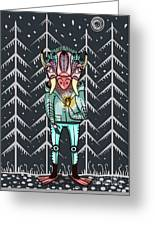 Forest Spirit, Forest Keeper Greeting Card