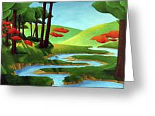 Forest Stream - Through The Forest Series Greeting Card