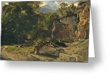 Forest Track. 1855 Greeting Card