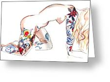Forever Amber - Tattoed Nude Greeting Card
