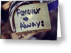 Forever And Always Paris Love Lock Greeting Card