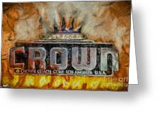 Forged In Fire - Crown - Oil Greeting Card