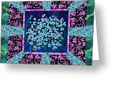 Forget Me Nots Fabric By Clothworks Greeting Card