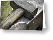 Forging Hammer On The Anvil Greeting Card