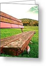 Forgotten Park Bench Greeting Card