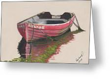 Forgotten Red Boat II Greeting Card