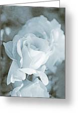 Forgotten Roses Blue Greeting Card