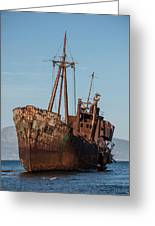Forgotten Ship Wreck Greeting Card