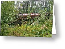 Forgotten Train Engine Greeting Card