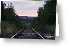 Forgotten Train Track Greeting Card