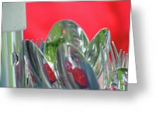 Forks And Spoons Greeting Card