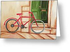 Forlorn Bike Greeting Card