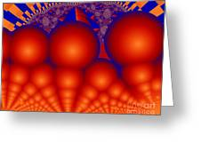 Formation Of Red Orbs Greeting Card
