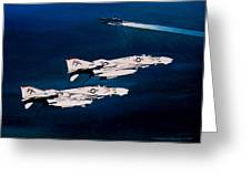 Forrestal S Phantoms Greeting Card by Marc Stewart