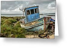 Forsaken Fishing Boat Greeting Card