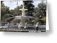 Forsyth Fountain Park Greeting Card