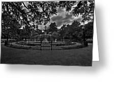 Forsyth Park Fountain Hdr Greeting Card