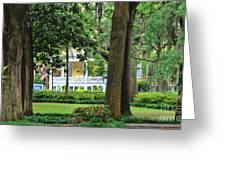 Forsyth Park Inn In Savannah  3205 Greeting Card