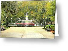 Forsyth Park Savannah Greeting Card