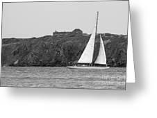 Fort Amsterdam Sailboat Greeting Card