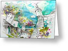 Fort And Houses In Valenca Greeting Card