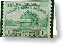 Fort Dearborn Postage Stamp Greeting Card